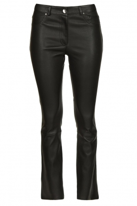 STUDIO AR BY ARMA | Leather stretch cropped pants Eva | black