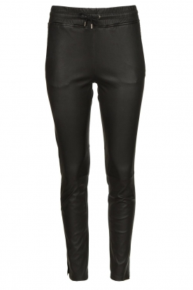 STUDIO AR BY ARMA |  Lamb leather stretch jogger Naomi | black