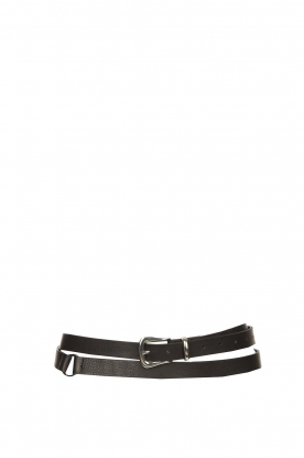 The Kaia |  Leather wrap belt Marta | black