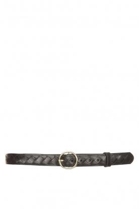 The Kaia |  Leather belt Ell | black