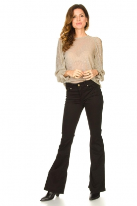 Look See-through top with lurex Bar