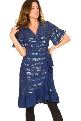 Lolly's Laundry |  Wrap dress with sequins Anka | blue