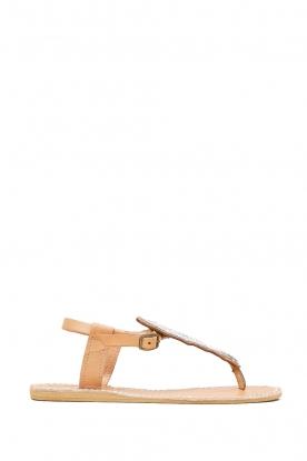 Laidback London |  Leather sandal Leni | silver