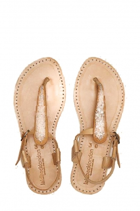 Laidback London | Leather sandal Leni | silver