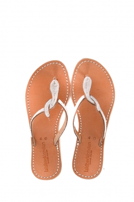 Laidback London | Leather flip flop Lana | white