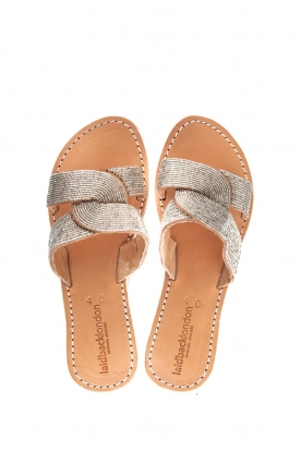 Laidback London |  Leather flip flop Bandit | SILVER