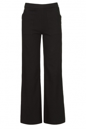 Lune Active |  Flared broek Camilla | black