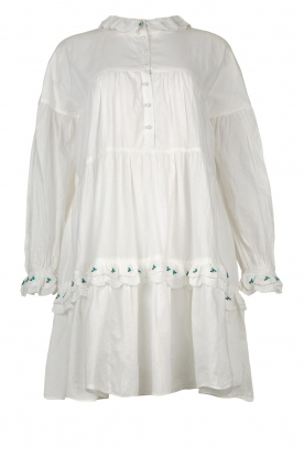 Notes Du Nord | Broderie dress Tenna | white