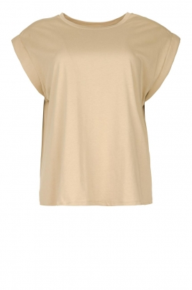 Notes Du Nord | Cotton basic T-shirt Porter | beige