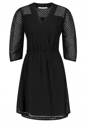 Aaiko | Open work dress Yaelle | black