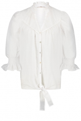 Aaiko | Tie blouse Sharinda | white
