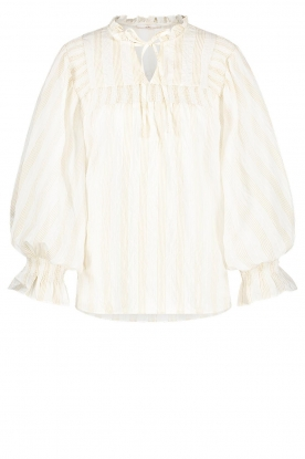 Aaiko | Striped blouse Carella | white