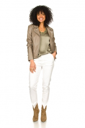 Look Top with lace v-neck Veerne