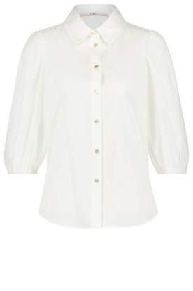 Aaiko | Cotton blouse with puff sleeves Pien | white