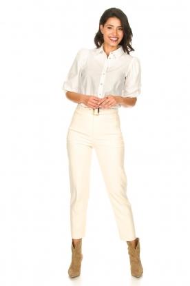 Look Katoenen blouse met pofmouwen Pien