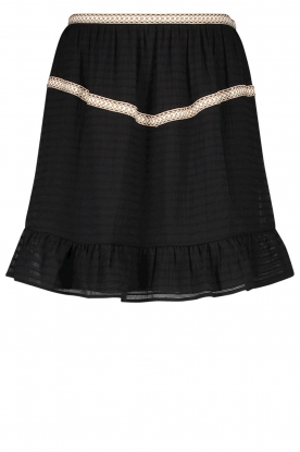 Aaiko | Striped skirt Semeline | black