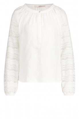 Aaiko |  Broderie blouse Vinisha | white