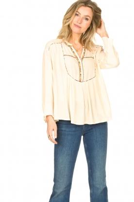 Louizon | Crepe blouse Shaey | naturel