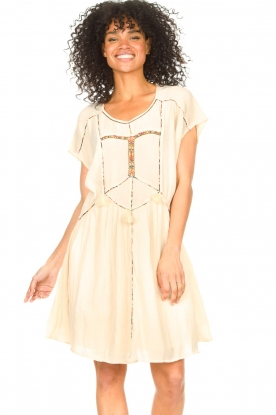 Louizon |  Dress with embroided details Shelter | natural