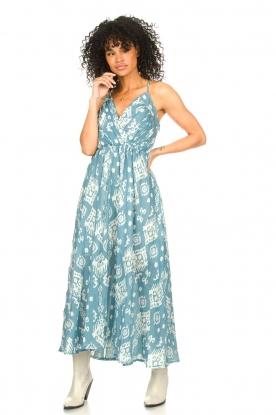 Louizon |  Maxi halter dress Sisteron | blue