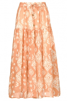 Louizon |  Maxi skirt with drawstring | nude