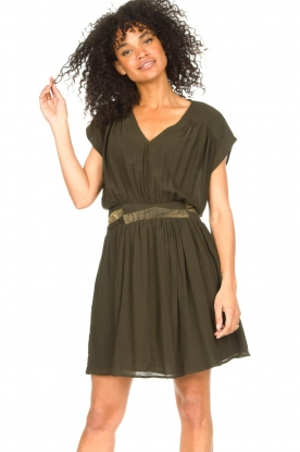 Louizon | Crepe jurk Bouza | groen