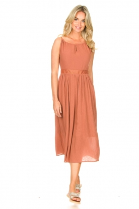 Louizon |  Maxi halter dress Beegees | rusty brown