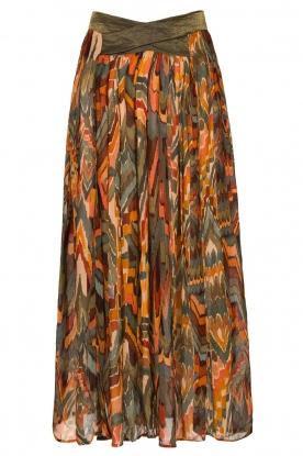 Louizon |  Printed maxi skirt Jesprit | green