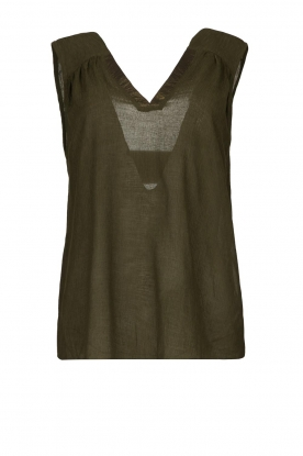 Louizon | Sleeveless top Biscotti | green