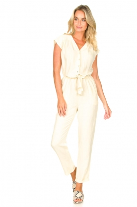 Look Jumpsuit with tie waistbelt Cyclade