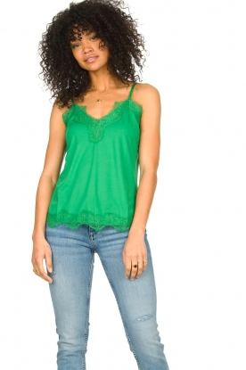 CC Heart |  Top with lace Puck | green