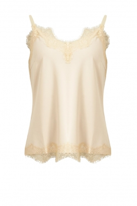 CC Heart |  Top with lace Puck | natural