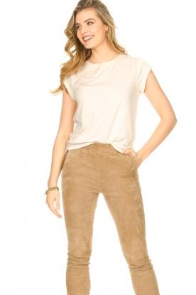 CC Heart |  Cotton mix t-shirt Classic | beige