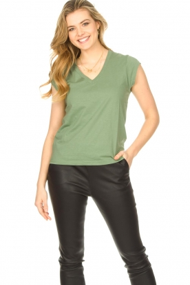 Look Cotton mix v-neck T-shirt Vera