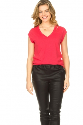 CC Heart |  V-neck T-shirt Vera | red