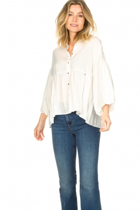 Kocca    Blouse with wide sleeves   natural