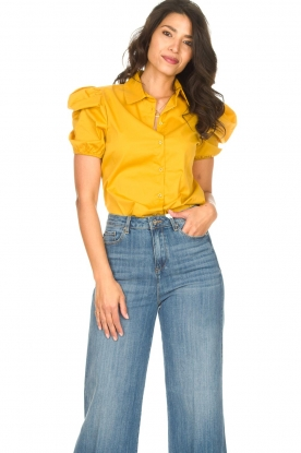 Kocca |  Poplin blouse Purca | yellow