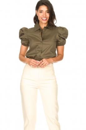 Kocca |  Poplin blouse Purca | green