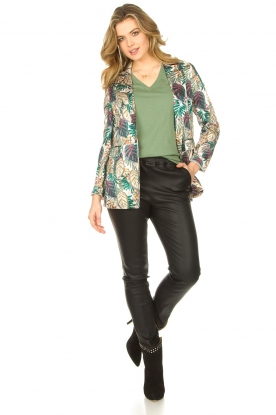 Look Blazer with leaf print Darika