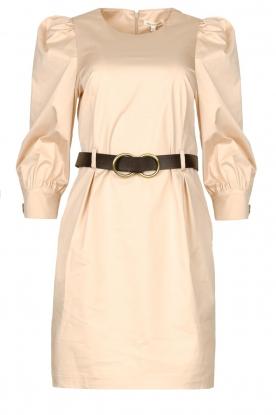 Kocca | Katoenen jurk met ceintuur Amir | beige