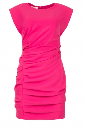 Kocca | Drapped dress with shoulder pads Rajani | pink