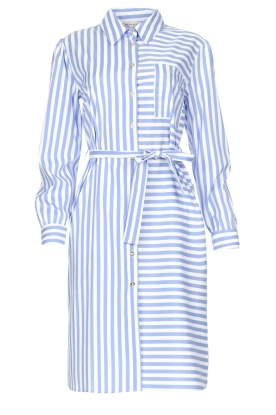Kocca | Striped midi dress Kimoni | blue