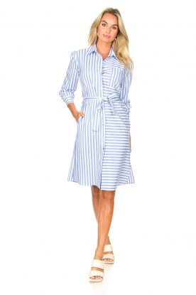 Look Striped midi dress Kimoni