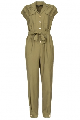 Kocca | Jumpsuit with tie belt Bikilu | green