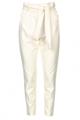 Kocca | Cotton paperbag pants Lali | white