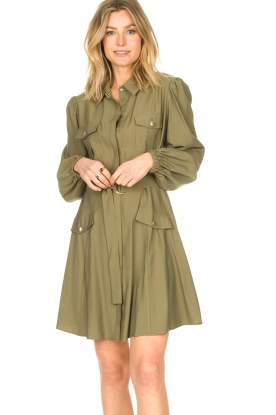 Kocca    Dress with puff sleeves Chanya   green