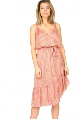 Kocca |  Sleeveless dress with print Chomar | orange