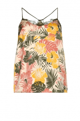 Kocca | Top with leaves print Manik | groen