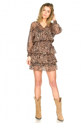 Look Panter print dress Josefien