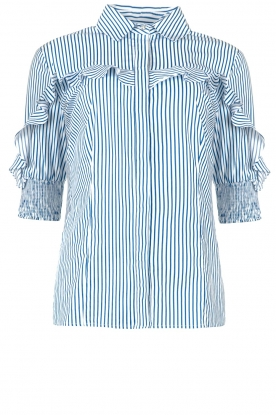 Liu Jo | Blouse with ruffles Eda | blue